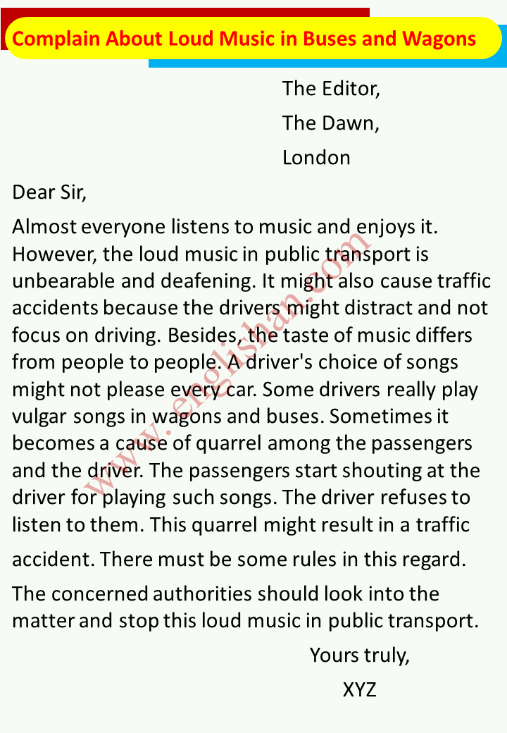 Complain About Loud Music in Buses and Wagons