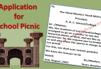 Application for Permission to Arrange a Picnic