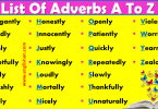 500+ List of Adverbs A To Z with PDF File