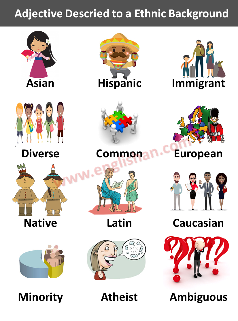 Adjective Describe to a Nationality